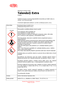Talendo® Extra - etiketa