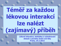 PharmDr. Josef Suchopár, Infopharm - Příběhy interakcí