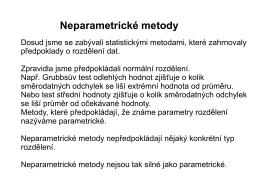 6. Neparametrické metody