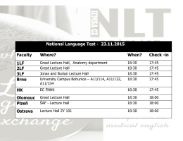 National Language Test - 23.11.2015 Faculty Where? When? Check