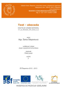 Test - abeceda