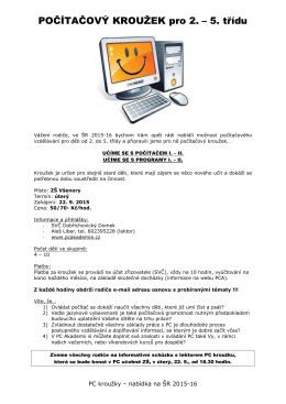 PC kroužky pro I. stupeň