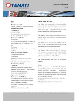 Technický list FOSTER 95-50