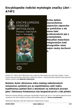 Encyklopedie indické mytologie značky Libri - A74F2