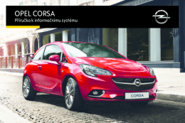Opel Corsa Infotainment Návod (model year: 16.0)