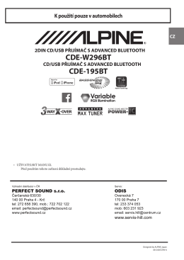 CDE-W296BT CDE-195BT - Web