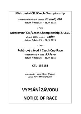 Mezinárodní mistrovství ČR - German Cadet Class Association