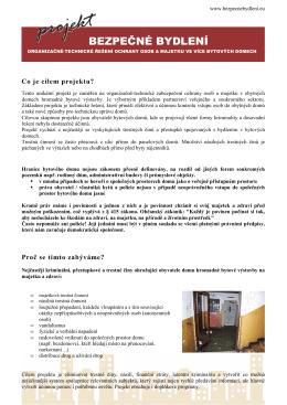 Dokumentace - projekt Bezpečné bydlení