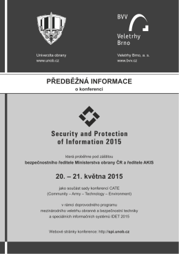 Security and Protection of Information 2015 - Crypto