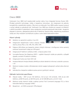 Směrovače Cisco 3800