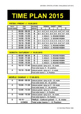 TIME PLAN 2015