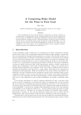 A Competing Risks Model for the Time to First Goal