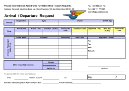 Arrival/Departure request