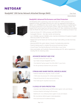ReadyNAS® 200 Series Network Attached Storage (NAS)