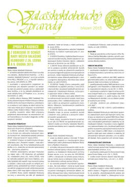 Valašskokloboucký zpravodaj - březen 2015