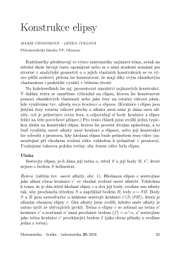 Konstrukce elipsy - matematika–fyzika–informatika