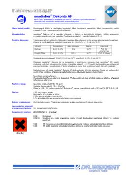 Technický list neodisher ® Dekonta AF