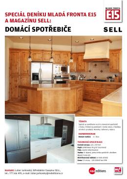 Speciál deníku Mladá fronta e15 a Magazínu Sell: doMácí Spotřebiče