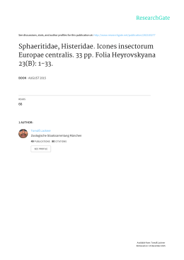 Sphaeritidae, Histeridae. Icones insectorum Europae centralis. 33