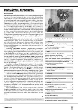 Editorial: Posvátná autorita