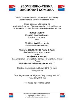 Degustace piv v Pivovarském klubu Praha