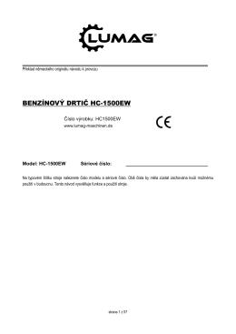 BENZÍNOVÝ DRTIČ HC-1500EW