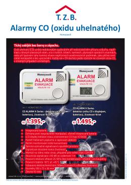 Alarmy CO (oxidu uhelnatého)