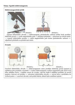 Téma: Využití elektromagnetu Elektromagnetický jeřáb obrázek 1