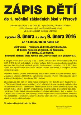 Informace Magistrátu Města Přerova