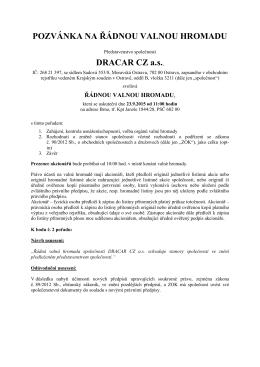 pozvánka na ŘVH DRACAR CZ a s  23 9 2015 _3_