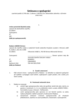 Smlouva o spolupráci - Nadace LANDEK Ostrava