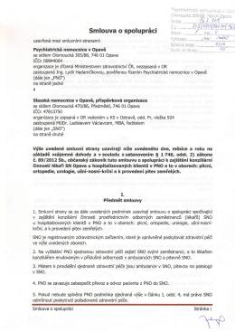 Smlouva o spolupráci konziliární činnost