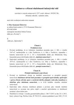 Smlouva YC Kladno Z¡ehrovice