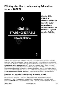 Příběhy starého Izraele značky Education s.r.o. - 167C72
