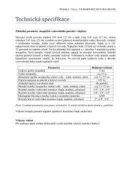 02.3 Technická specifikace předmětu plnění