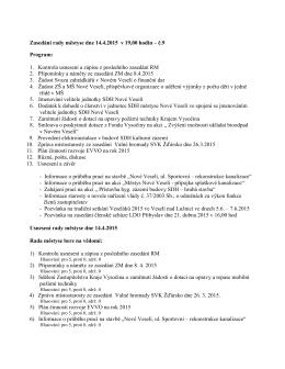 Usnesení rady městyse č. 9