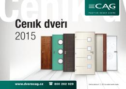 Ceník je platný od 1. 5. 2015 do vydání nového ceníku. - Real