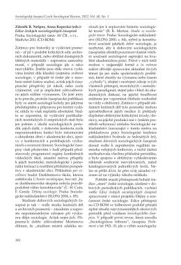 Edice českých sociologických časopisů