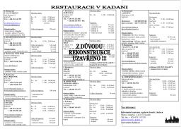 Seznam Restaurací v