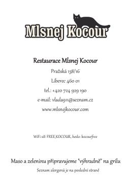 Restaurace Mlsnej Kocour Restaurace Mlsnej Kocour