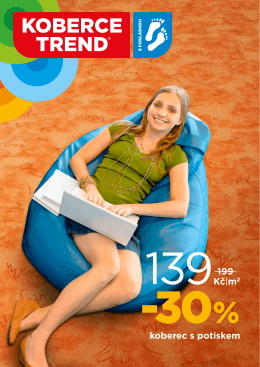 koberec s potiskem 199 Kč m2