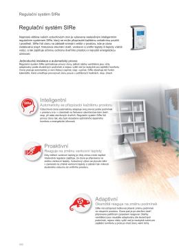 Regulační systém SIRe Inteligentní Proaktivní Adaptivní