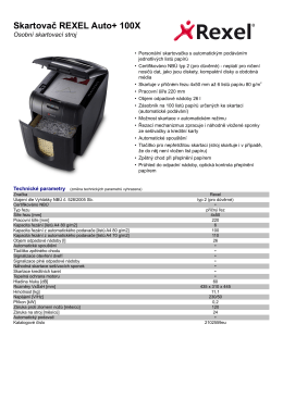 2102559eu_Skartovač REXEL Auto+ 100X_Produktovy_list