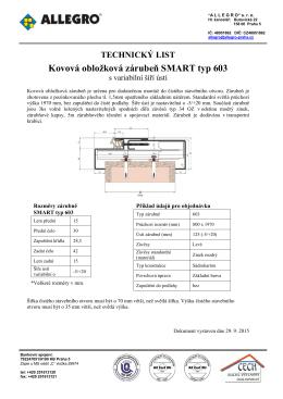 Kovová obložková zárubeň SMART typ 603