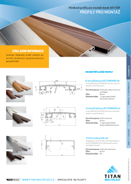 hliníkové profily pro montáž dutinkových desek - TITAN
