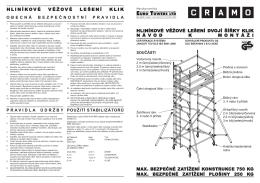 Hliníkové věžové lešení dvojí šířky klik