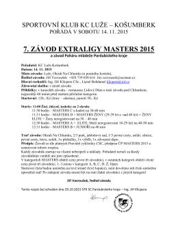 7. ZÁVOD EXTRALIGY MASTERS 2015