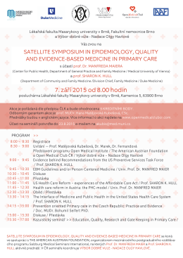 Pozvánka_Satellite Symposium in Family Medicine