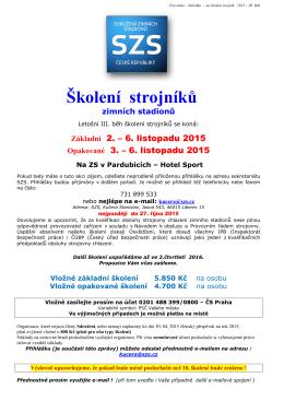 Pozvánka a program - Sdružení Zimních Stadionů