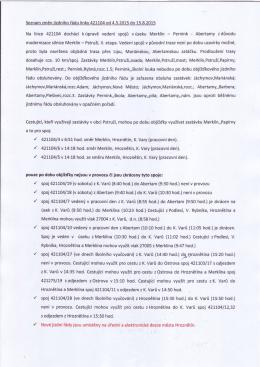 Seznam změn iízdního řádu |inkv 4211.04 od 4.5